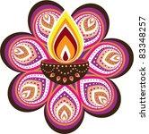 indian oil lamp | Shutterstock .eps vector #83348257