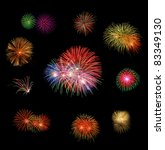 Set Of Fire Works With The...
