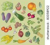 vivid vegetables | Shutterstock .eps vector #83358922