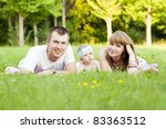 family with baby in park | Shutterstock . vector #83363512