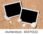 Sea Shells With Photos On Sand...