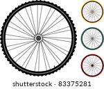 Set Multicolored Bicycle Wheel...