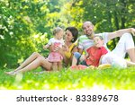 happy young couple with their... | Shutterstock . vector #83389678