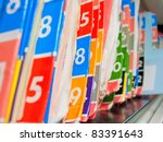 medical records folder archive... | Shutterstock . vector #83391643