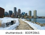 View Of Boston Harbor And Rowes ...