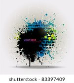 grunge colorful splashing ... | Shutterstock .eps vector #83397409