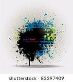 grunge colorful splashing ... | Shutterstock .eps vector #83397409