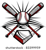 baseball bats and ball graphic... | Shutterstock .eps vector #83399959