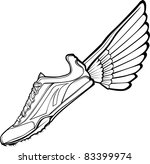 track shoe with wing... | Shutterstock .eps vector #83399974