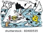 vector cartoon of polar bears... | Shutterstock .eps vector #83400535