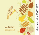 autumn beauty colorful... | Shutterstock .eps vector #83409127