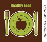 abstract food sticker. vector... | Shutterstock .eps vector #83409394