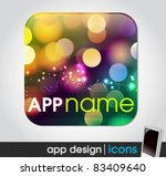 blank app icon for mobile... | Shutterstock .eps vector #83409640