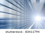 speed motion blue tunnel moving ... | Shutterstock . vector #83411794