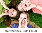 three young women shouting | Shutterstock . vector #83414320