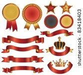 set of ribbon and emblem | Shutterstock .eps vector #83418403