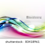 eps10 abstract vector wave... | Shutterstock .eps vector #83418961