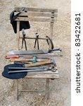 Chair With Farrier Tools
