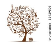 coffee time. art tree for your...   Shutterstock .eps vector #83429509