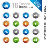 Glossy Buttons   Finance Icons