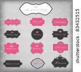 vector set of 13 vintage frames ... | Shutterstock .eps vector #83432515
