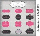 vector set of 13 vintage frames ... | Shutterstock .eps vector #83432515