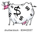 cartoon of a cash cow with... | Shutterstock .eps vector #83442037