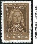 romania   circa 1959  stamp...   Shutterstock . vector #83453131