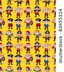 seamless pirate pattern | Shutterstock .eps vector #83455324