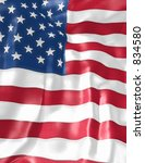 u.s. flag background 3d   Shutterstock . vector #834580