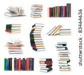 books collection isolated on a... | Shutterstock . vector #83464636