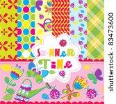 scrapbook summer time | Shutterstock .eps vector #83473600