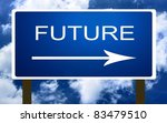 Future sign - stock photo
