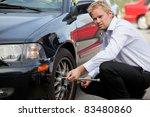 an unhappy business man...   Shutterstock . vector #83480860