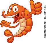 cartoon shrimp holding it's...   Shutterstock .eps vector #83484451
