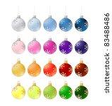 twenty colorful christmas balls ... | Shutterstock . vector #83488486