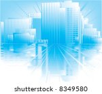 blue city | Shutterstock .eps vector #8349580