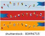 Set of banner navigation flags. Vector. - stock vector