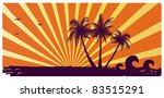 Stock vector island with palms 83515291