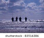 Four Unidentifiable Fisherman...