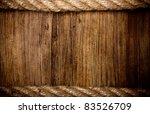 Rope On Weathered Wood...