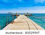 pier in heavenly blue place | Shutterstock . vector #83529547