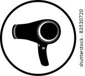 blow dryer   hair dryer hair... | Shutterstock .eps vector #83530720