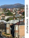 hobart suburb with view to...