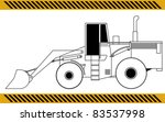 loader excavator construction... | Shutterstock .eps vector #83537998