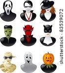 set of  halloween avatars. nine ...
