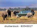 safari game drive with the...   Shutterstock . vector #83543017