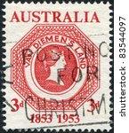 australia   circa 1953  a stamp ...   Shutterstock . vector #83544097