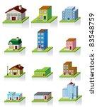 premium 3d houses | Shutterstock .eps vector #83548759