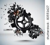 vector cogwheel crushing   Shutterstock .eps vector #83551627
